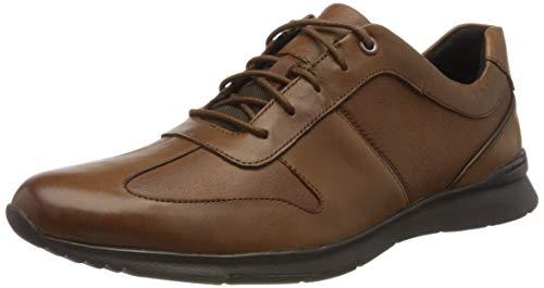 Clarks Un Tynamo Tie, Zapatos de Cordones Brogue para Hombre, Marrón (Tan Leather Tan Leather), 42.5 EU