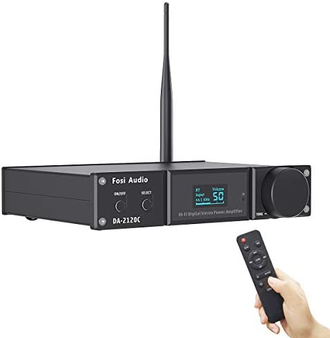 Fosi Audio DA2120C Bluetooth Amplifier 120W x2 Stereo Hi Fi 2 1 Channel Wireless Stream aptX product image