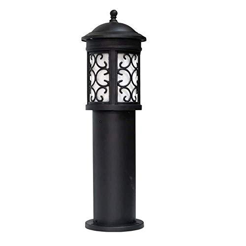 ZSMLB Apliques de Pared para Exteriores Luz de Poste de Pilar de Metal de Aluminio Europeo Lámpara de césped de jardín Impermeable E27 Parque comunitario Piscina Lámpara de Poste Alto Vintage Stre
