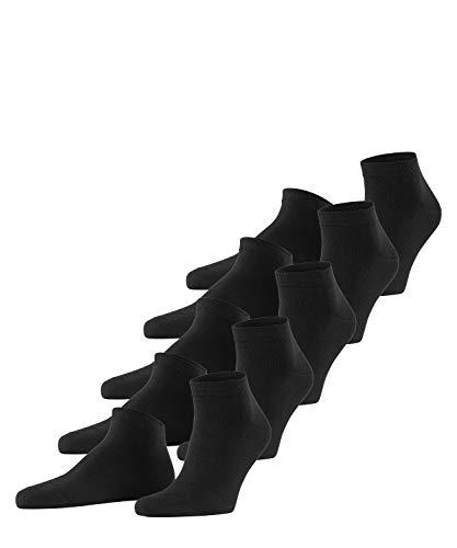 ESPRIT Herren Solid 5-Pack M SN Sneakersocken, Schwarz (Black 3000), 40-47 (5er Pack)