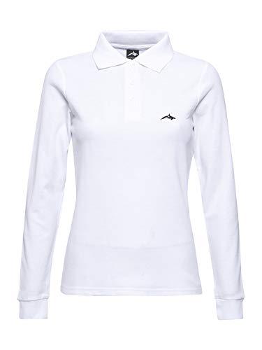 Killer Whale Camiseta de Golf de Manga Larga de algodón para Mujer (Blanco, L)