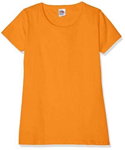 Fruit of the Loom Damen Valueweight T-Shirt 3 Pack, Orange, 38(Herstellergröße:S)