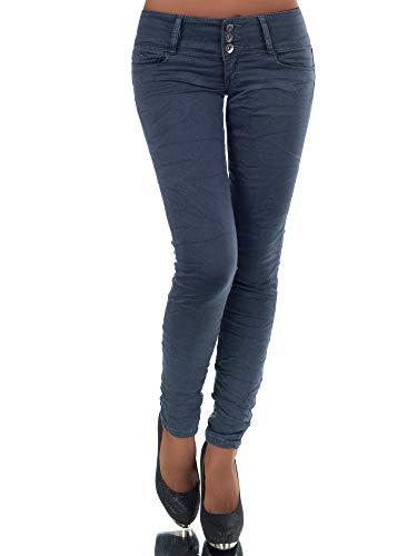 Diva-Jeans  N447 Damen Jeans Hose Hüfthose Damenjeans Hüftjeans Röhrenjeans Röhrenhose Röhre, Steingrau , 36