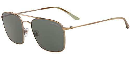 Armani Gafas de sol Giorgio AR6080 319871 Gafas de sol Hombre color Oro verde tamaño de lente 55 mm