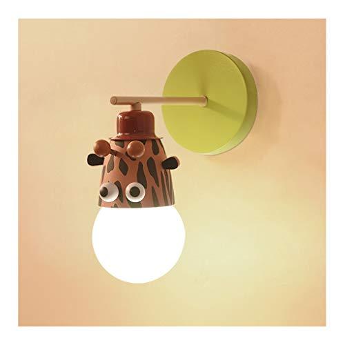 LED Sconce Kind Wandlamp, Cartoon Dier Decor Wandlamp, Iron Art E27*1, Jongen Meisje Slaapkamer Studie Lezen Nachtlicht Corridor [Energie Klasse A++]