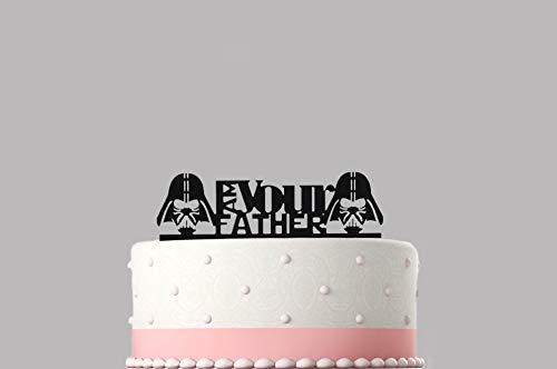 Ik ben je vader - vaders dag taart topper verschillende kleuren maten hoge kwaliteit artikel Keepsake niet kaart-Stock.06