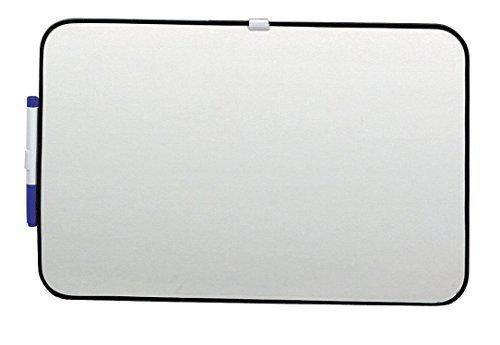 School Smart Whiteboards mit schwarzem Rahmen, trocken abwischbar, 11 x 17 cm, Weiß