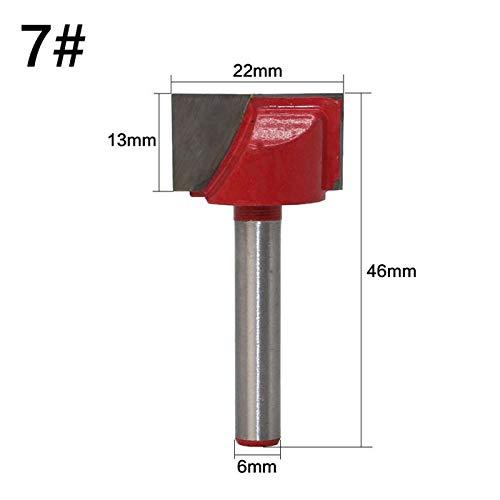 K-Fang, 1Pc 6mm Schaft CNC Planfräser Fräser Reinigungs Bottom Fräser Holzschaftfräser Werkzeug-Karbid-Fräser for Holz (Größe : NO 7)