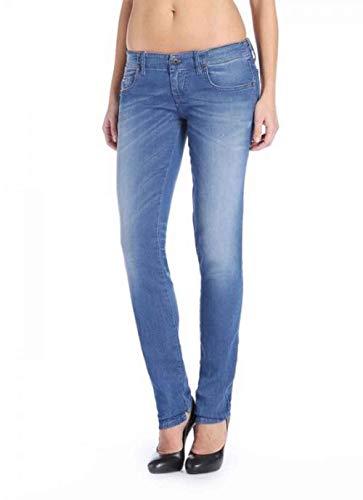 Diesel Damen Jeans Hose JoggJeans Sweat Grupee-NE Small Step 0837T (W27, Blue Denim)
