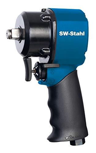 SW-Stahl S3249 Druckluft-Schlagschrauber Mini I 1/2 Zoll I 1172 Nm I Druckluftschrauber für Reifenwechsel