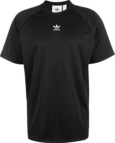 adidas Mono Jersey Pol Camiseta de Manga Corta, Hombre, Black/White, L
