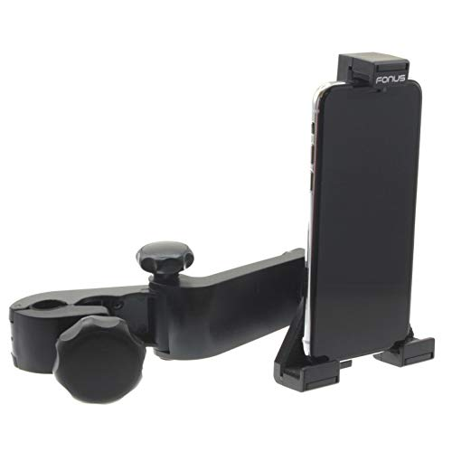 Car Mount Headrest Compatible with LG K92 5G Phone - Holder Back Seat Cradle Swivel Dock Entertainment Stand Strong Grip Multi-Angle Adjustable