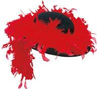 Boa 14009-01 - Sombrero para mujer, color rojo y negro