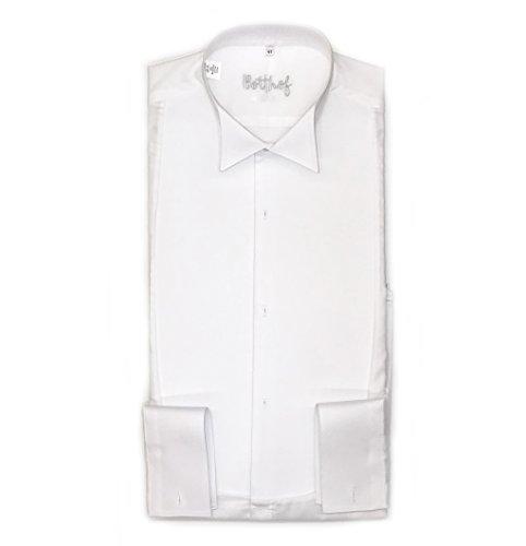 Frackhemd Botthof, Regular Fit, piqué, 100% Baumwolle, extra langer Arm Größe 41