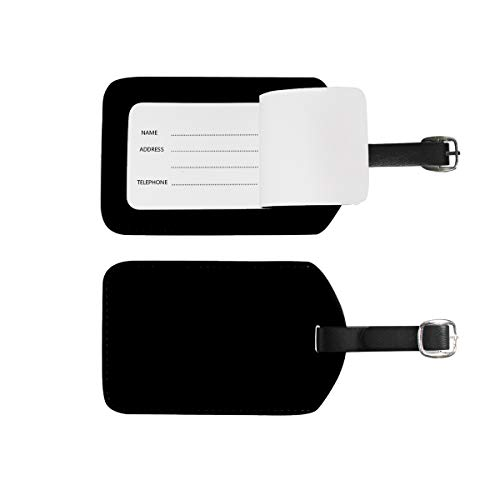Luggage Tags Address Name Holder, 2Pcs Portable Identifier Label Set Checked Card Bag Decoration Travel Gear Gifts for Suitcases Bags Baggage Black
