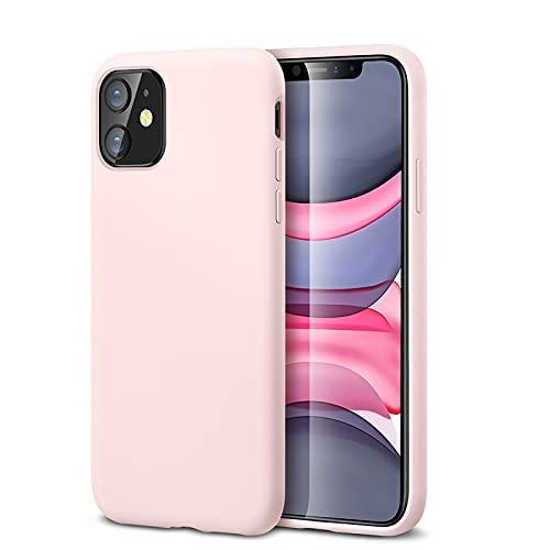 """ESR Funda Serie Yippee Color Soft para iPhone 11, Funda Suave de Silicona Líquida, Cómodo Agarre, Protección para Pantalla y Cámara, Absorción de Golpes. para iPhone 11 6,1"""".Rosa."""