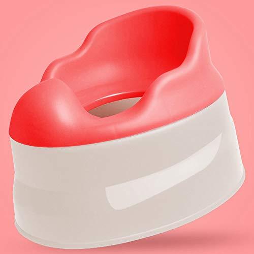 ZSLLO Toilette vasino Multifunzionale dal Design ergonomico, Sedile vasino da vasino for Neonati e Bambini Piccoli, Sedile da Toilette Bambino, Sedia vasino Design Diviso (Colore : Rosso)