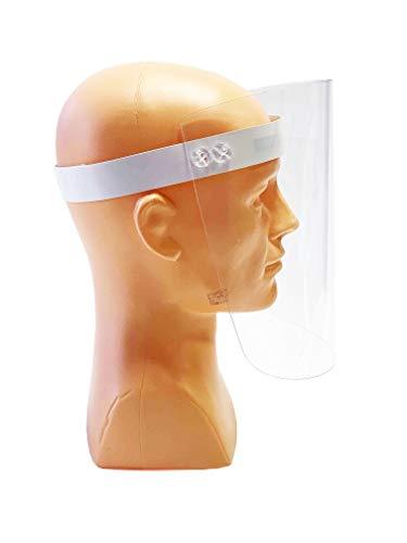 5 Stück Standard Schutzvisier Gesichtsschutz Anti Nebel Visier Gesichtsschutzmaske Schutzhelm mit Klarem Polycarbonat Visier Schutzmasken Verstellbar Abdeckung Bezug Abnehmbar für Haus und Betrieb