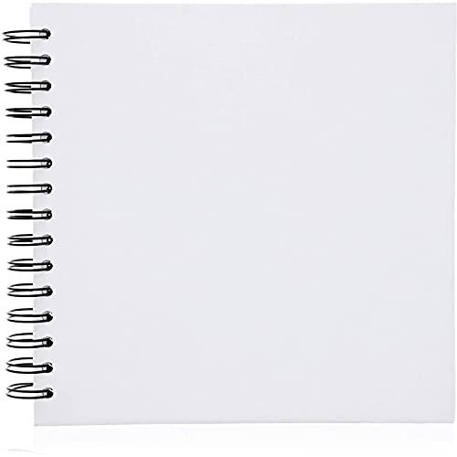 Álbum de scrapbook capa dura (20 x 20 cm, branco, 40 folhas)