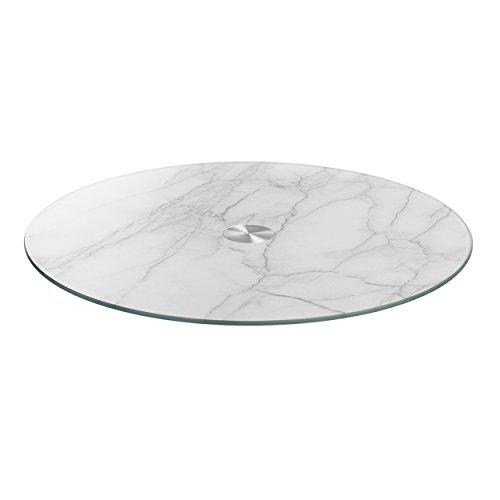 LEONARDO - Servierplatte, Tortenplatte - Turn - Marmor Optik - Glas - Ø: 33 cm