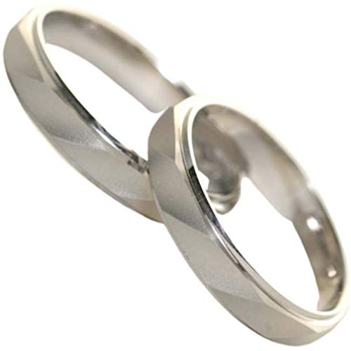 [京都ジュエリー工房] 結婚指輪 マリッジリング 「メティス」 pt900 ペアリング 2本セット 財務省造幣局検定マーク ホールマーク プラチナリング 外側ダイヤ:レディース/メンズともに1個付き mari-metis-pt900-2_D01 メンズ21