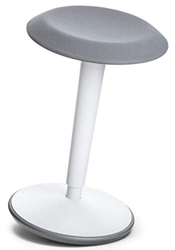 bümö sedus se:fit Stehhilfe weiß   Stehhocker höhenverstellbar - ergonomischer Stehsitz Hocker für Stehschreibtische