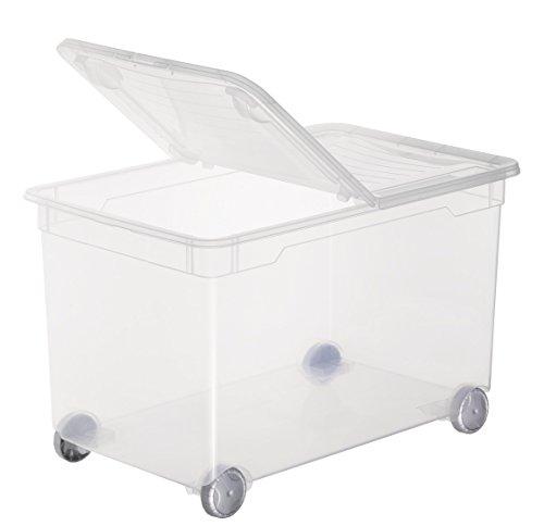 Sundis 4199002 Splito Caja de almacenamiento, polipropileno, transparente, 45 x 35 x 25 cm