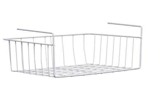 Premier Housewares - Cesta para estante (39 cm), color blanco