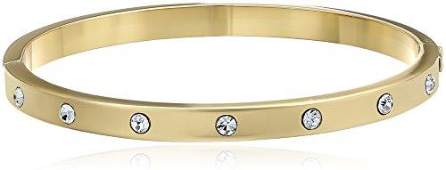 kate spade new york Set In Stone Stone Hinged Clear/Gold Bangle Bracelet