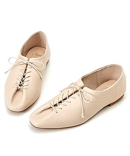 [ニッセン] 靴(シューズ) 【ゆったり幅広】 デザインレースアップシューズ(ワイズ4E) アイボリー M・23.0~23.5cm/4E