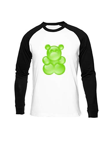 Fioze Verde Pegajoso Oso Camiseta Béisbol Unisex Cuello Redondo Baseball Unisex T-Shirt