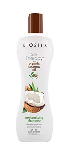 BioSilk Silk Therapy Coconut Oil Moisturizing Shampoo - 90% Natural, Sulfate, Paraben and Gluten Free - Multiple Sizes