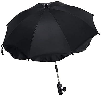 Sombrilla Universal Carrito de Bebé Anti UV 50+,Paraguas Universal para Cochecito con Soporte Ajustable Removible, Paraguas Confort para Bebé, Paraguas con Fijación para Tubo Redondo Ovalado
