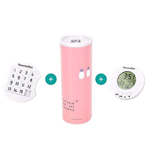 YGLONG Caja De PapeleríA De Arenas Movedizas Caja de lápiz Simple Azul Rosado Minimalismo Roll Minimalismo Codificado Cerradura de papelería Papelería de Regalo Estuche Escolar (Color : 3 pcs)