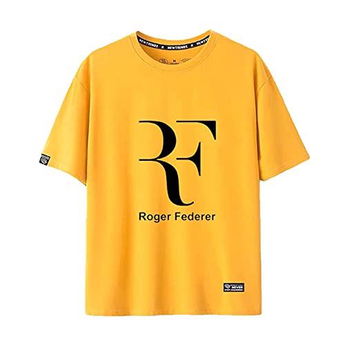 Desk Camiseta para Hombre, Jugador de Tenis, Camiseta Roger Federer, Camisetas Deportivas Unisex de Manga Corta para Hombre, Uniforme Transpirable