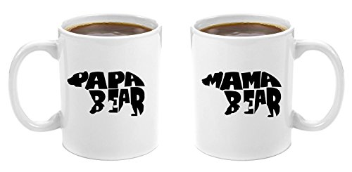 Mama Bear & Papa Bear   Premium 11oz Coffee Mug Gift Set - Perfect Birthday Gifts for Mom and Dad, Anniversary Gifts for Parents, New Parents Gifts, Dad to be Gifts, Christmas Mom Dad His Grandparents