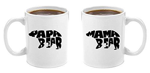 Mama Bear & Papa Bear | Premium 11oz Coffee Mug Gift Set - Perfect Birthday Gifts for Mom and Dad, Anniversary Gifts for Parents, New Parents Gifts, Dad to be Gifts, Christmas Mom Dad His Grandparents