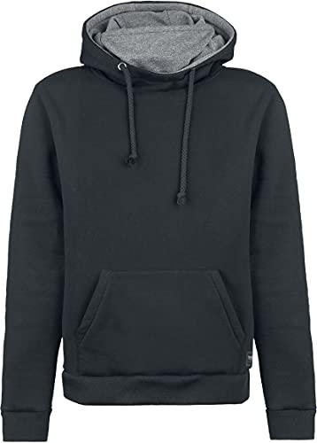 Black Premium by EMP Bodies Homme Sweat-Shirt à Capuche Noir/Gris L