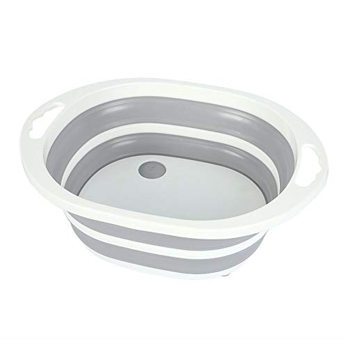 JDG Folding Washbasin Portable Camping and Hiking Folding Sink Non-Slip Dishwashing Fruit and Home Kitchen Foldable Sink Gray (Color : Gray, Size : 4131.514.5)