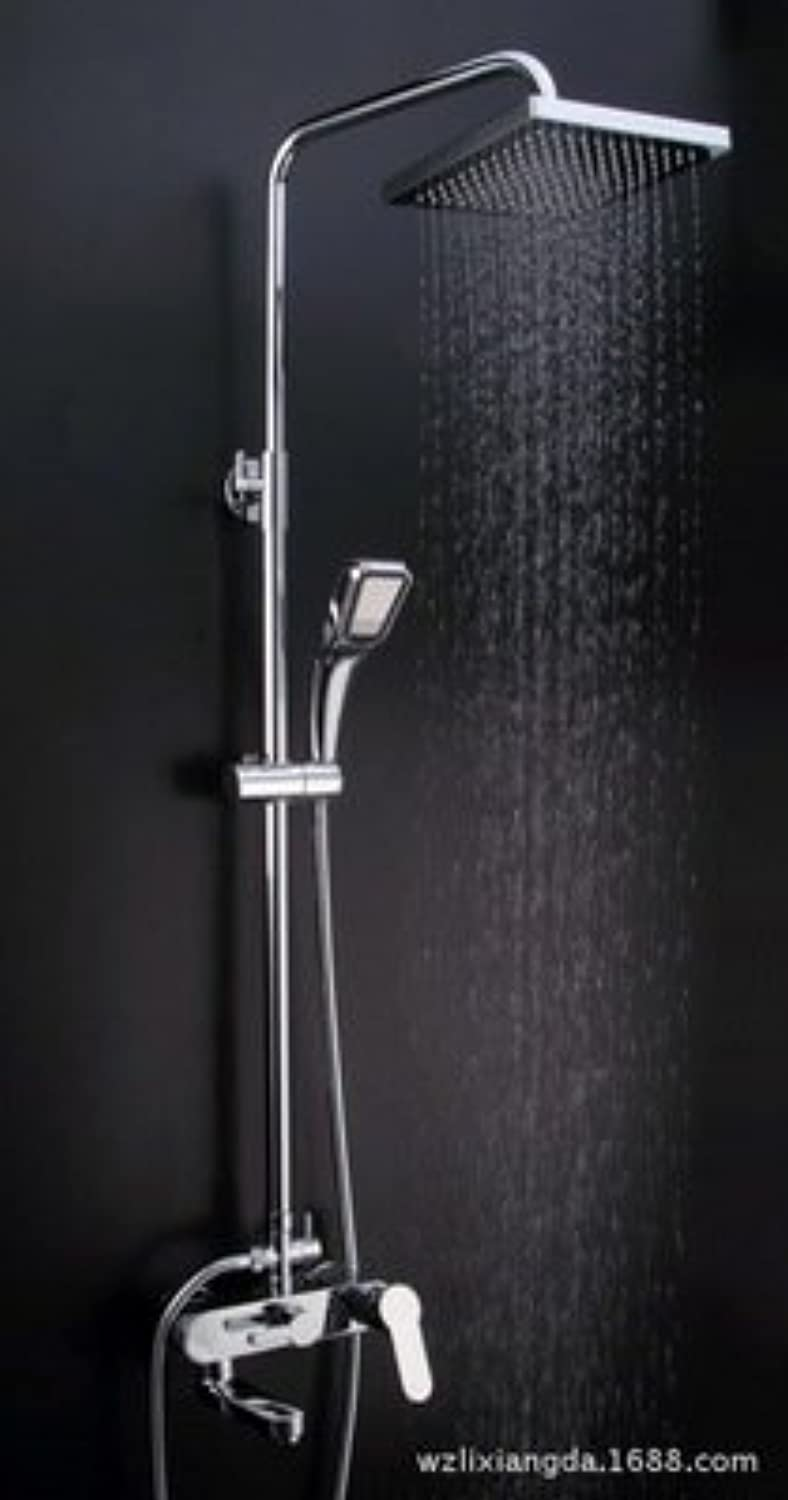 Coated Full Copper Multi-Function Shower pressurized hot and Cold Thermostat Bath Flower Head Suit