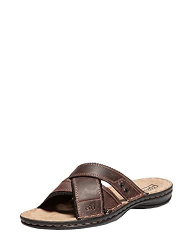 TBS 53466 Gaethan - Sandalias de piel, color marrón, marrón, 43 EU