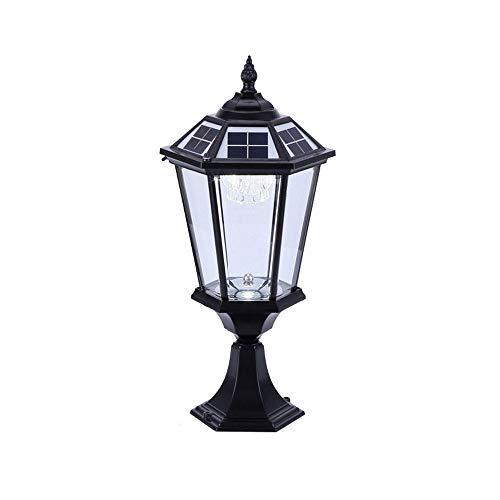 XXINY Pillar Lampe Zweifarben Dekorative Gartenleuchte Super Bright Haushalt Solarwand-Lampe wasserdichte im Freien Villa Rasen-Lampe LED-Hauptwand-Lampen-Pfosten-Kopf-Lampen-Tür