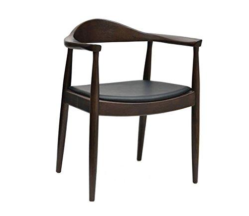 Tabouret en bois Fauteuils nordiques de dossier en bois massif, chaise simple de café de chaise d'ordinateur de bureau (Couleur : C)