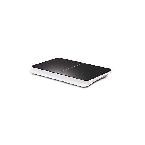 Table de cuisson à induction double portable, 2 Foyers, 3500W, sensitive, minuterie de 4h, Réglage de température et puissance