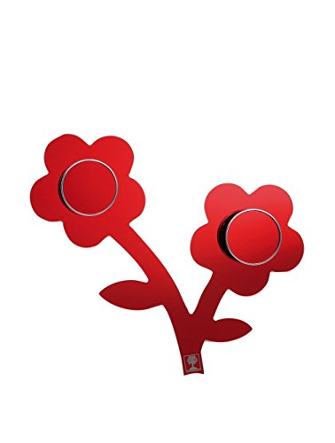 Foppapedretti Appendifiore Appendiabiti da Parete, Rosso