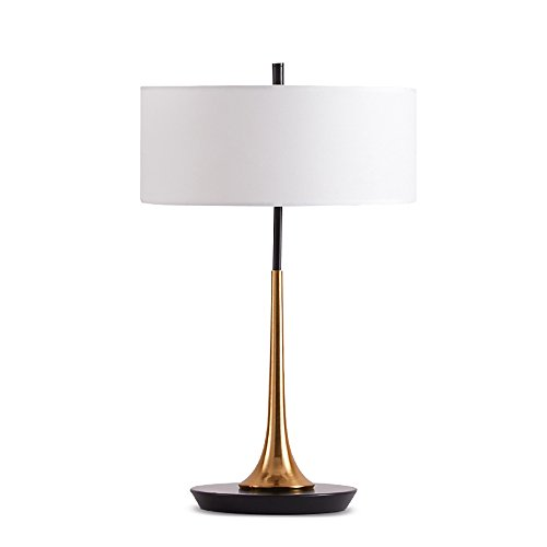 GLJF Iron Simple Lampadaire de Table créative Chambre Romantique Éclairage de Chevet Living Room Study Table Lights (Couleur : Blanc Abat)