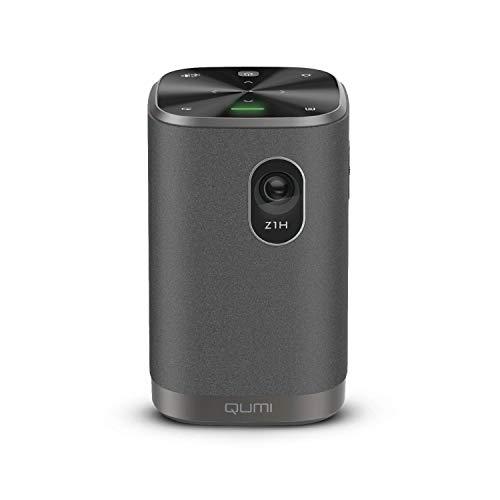 """Vivitek Qumi Z1H, proyector Compacto, proyector Combinado con Altavoces Bluetooth, proyector LED, espejado inalámbrico WLAN, batería integrada, 300 lúmenes, 1280x720 píxeles, 100\"""" de Diagonal, HDMI"""