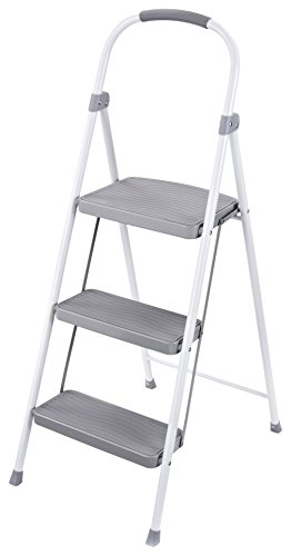 best choice folding steel 3 step stool ladder