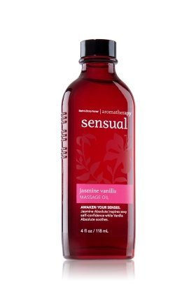 For Sale! Bath and Body Works Jasmine Vanilla Massage Oil Aromatheray Sensual, 4 ounces