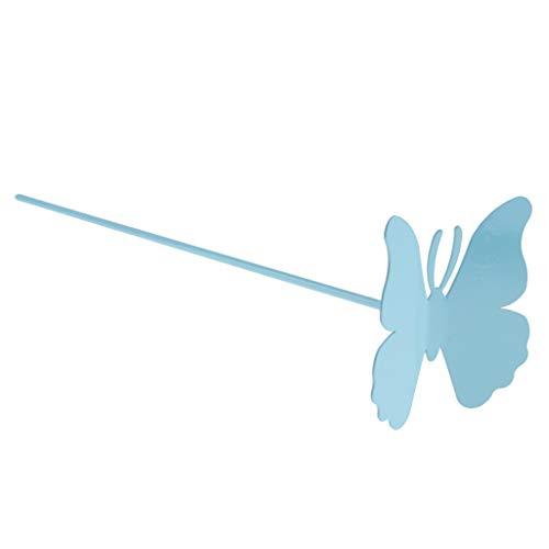 Fenteer Piquets Plante Animale Papillon Pieu Jardin Toiles de paillage - Bleu 10cm